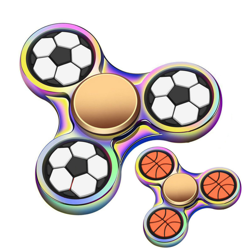 New Finger Tip Gyro Fidget Spiner Manufacturers Direct Football Basketball Metal Gyro Zinc Alloy Finger Gyro Mute Bearing