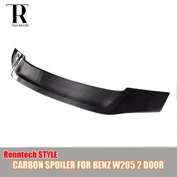 Renntech styl W205 tylne skrzydło spojler z włókna węglowego dla Benz W205 C200 C220 C300 C43 C63 AMG Coupe 2 drzwi 2015-2022