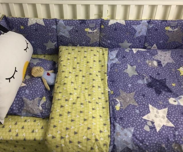 7 Stück Krippe Infant Zimmer Kinder Baby Schlafzimmer Set