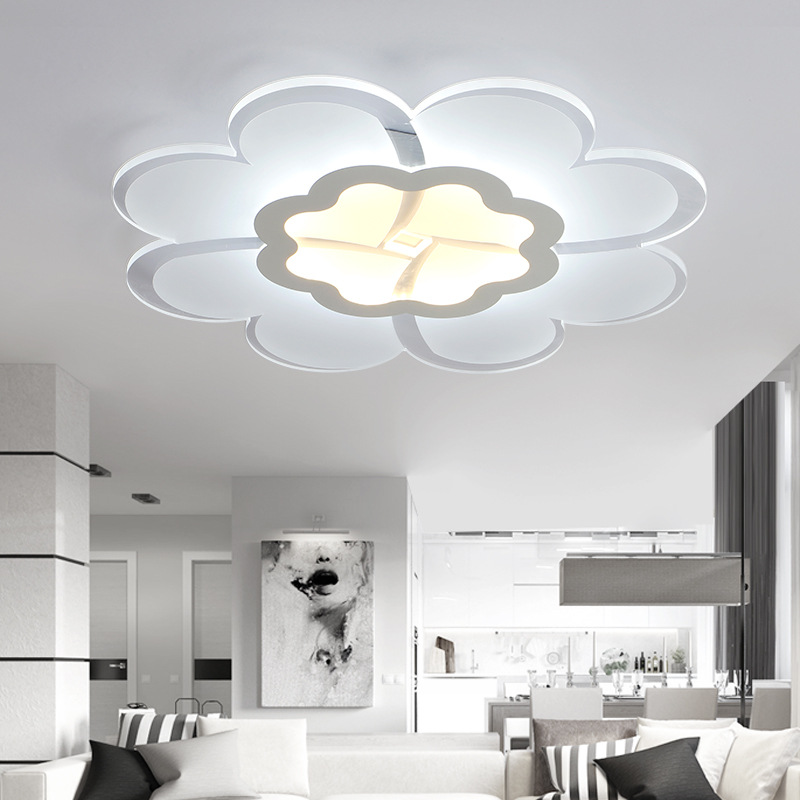 Ceiling Lights Chinese Garden Hand-painted Flowers Led Ceiling Lamp Living Room Bedroom Balcony Aisle Simple Retro Round Glass Ceiling Lamp Lights & Lighting