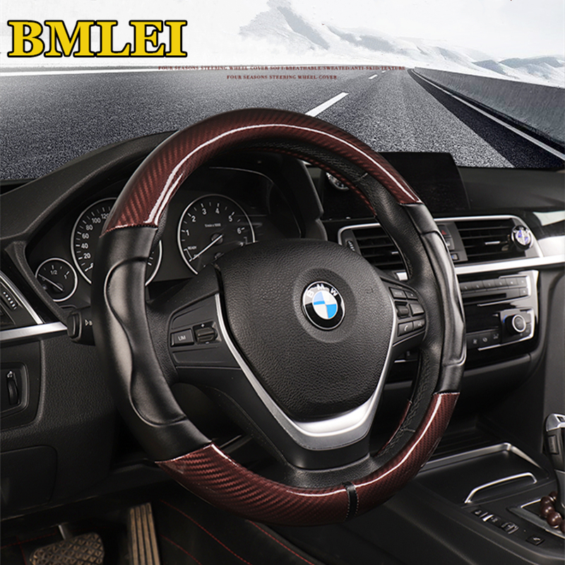 Cover Steering Wheel for BMW E70 X5 E71 X6 with Pack M Leather Seam to Choose