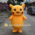 Pokemon Идти Пикачу Талисман взрослый Костюм БОЛЬШОЙ размер Тела Приятные Глазу ГОРЯЧИЕ продажи