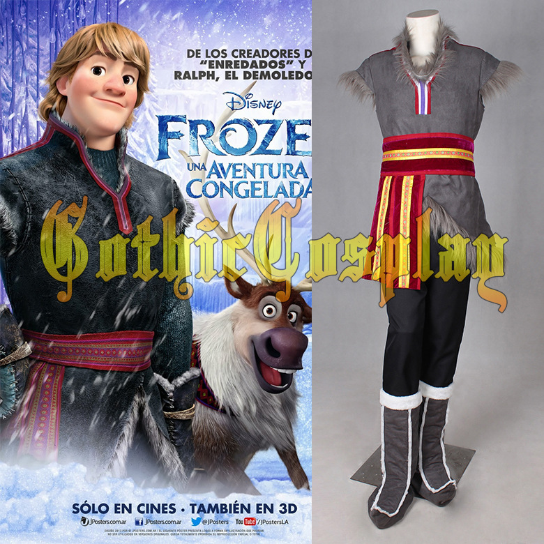 Free Shipping Kristoff Costume  Halloween Cosplay Costume