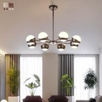 room lights Nordic contracted and contemporary chandelier room bedroom lights restaurant glass art designer chandeliers