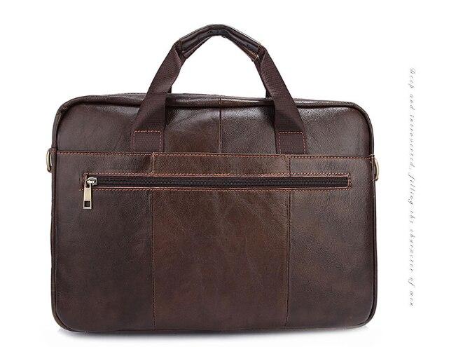 купить New Genuine Leather Briefcase Men Messenger Bag Casual Vintage Shoulder Bag Simple Large Capacity Cool Bussiness Bags L110 недорого