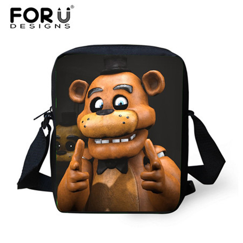 FORUDESIGNS Small CartoonKids Schoolbag,Five Nights At Freddy Mini School Bags Children,Kawaii Boys Girls Book Shoulder Bags