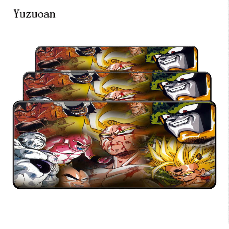 Yuzuoan Free Shipping Dragon Ball Large Mouse pads to Notbook Computer Mousepad Cheapest Gaming pad mouse Gamer to 90x40cm