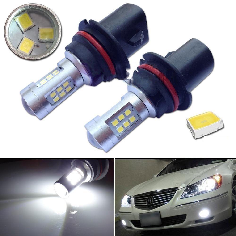 9004 21W 12V automobilové LED světlo bílé 6500K objektiv proti vibracím vodotěsné univerzální LED zadní světla mlha lampa brzda žárovka HB1