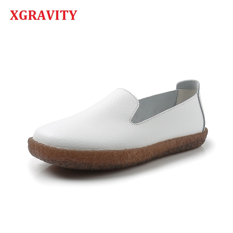 XGRAVITY 2018 New Hot Sales Comfortable Spring Lady Fashion Flats Woman Casual Flat Shoes Casual Ladies Flat Shoes Student A039 xgravity hot sale original vintage lady