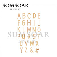 Somsoar Jewelry Keep keys Letter DIY Charms Fit For Leather Keepers Wrappable Bracelet
