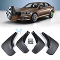 New Black 4pcs Mud Flaps Splash Guard Mudguard Mudflaps Fenders Protector For VW JETTA BORA Golf  1999 2000 2001 2002 2003 2004