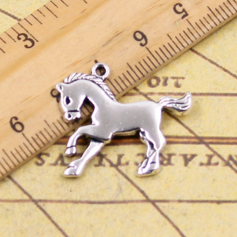 10pcs Charms horse steed 23*25mm Tibetan Silver Plated Pendants Antique Jewelry Making DIY Handmade Craft