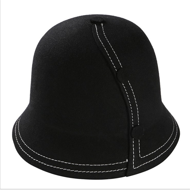291857f636d kukilonglong high quality 100% woolen bucket hats for women winter outdoor  gorras for ladies fishing hat panama girls bucket hat-in Bucket Hats from  Apparel ...