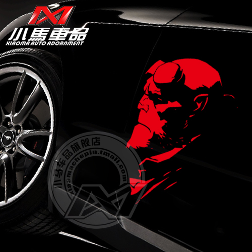 Car Styling Cool Design Hellboy Reflective Car Sticker For Car Door For  Chevrolet Cruze Ford Focus 2 3 Mazda 3 Vw Polo Kia K2