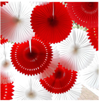 Wholesale 30pcs Lot 12 30cm Hollow Hanging Tissue Paper Fans Party Decoration Baby Birthday Christmas Decoration