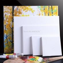 1 шт. белый пустой квадратный холст для художника, масляные краски, деревянные рамы для грунтованных масляные, акриловые краски