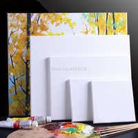 1 pezzo Bianco Quadrato Bianco Artista Tela di Canapa Per La Pittura A Olio Su Tela, Tavola di Legno Cornice Per La Prima Mano di Olio di Vernice Acrilica