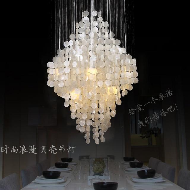 Modern natural shell pendant lighting dining room bedroom romantic modern natural shell pendant lighting dining room bedroom romantic hanging lamp aloadofball Image collections
