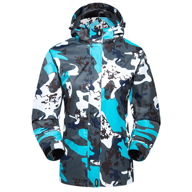 2018 Spring Autumn Climbing Camping Hiking Jacket Outdoor Waterproof Windproof Thermal Windbreaker Women Camouflage Rain Coat ...
