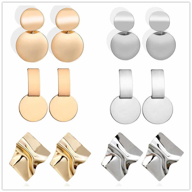Orecchini di dichiarazione di moda 2019 grandi orecchini rotondi geometrici per le donne appesi orecchini pendenti orecchini moderni femminili