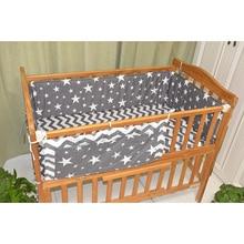 무료 배송 그레이 스타 침구 세트 다기능 아기 안전 잠자는 아기 침대 범퍼 세트 아기 침대 침대 매달려 스토리지 가방