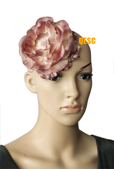 15cm SOFT silk flower for fascinator and hair accessory,with brooch pin hair clip.
