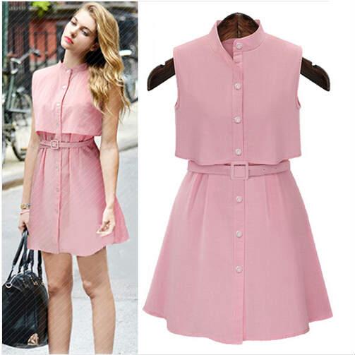 Popular Pink Linen Dress-Buy Cheap Pink Linen Dress lots from ...