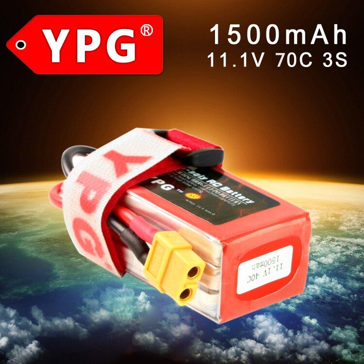 Gartt YPG 3S LiPo Battery 11.1V 1500MAH 70C For QAV FPV RC 210 250 zmr 300 Quadcopter Multirotor Mini Drones