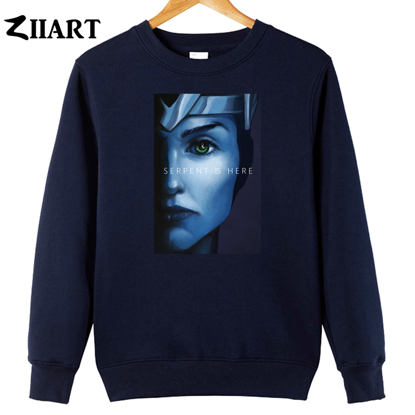 serpent is here kid loki poster game of thrones couple clothes girls woman cotton autumn winter fleece Sweatshirt