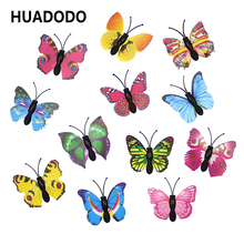 HUADODO 20 Pieces Cute 3D Butterfly Decorative Wall stick For Home Wedding Decoration party DIY Supplies Fridge stickers