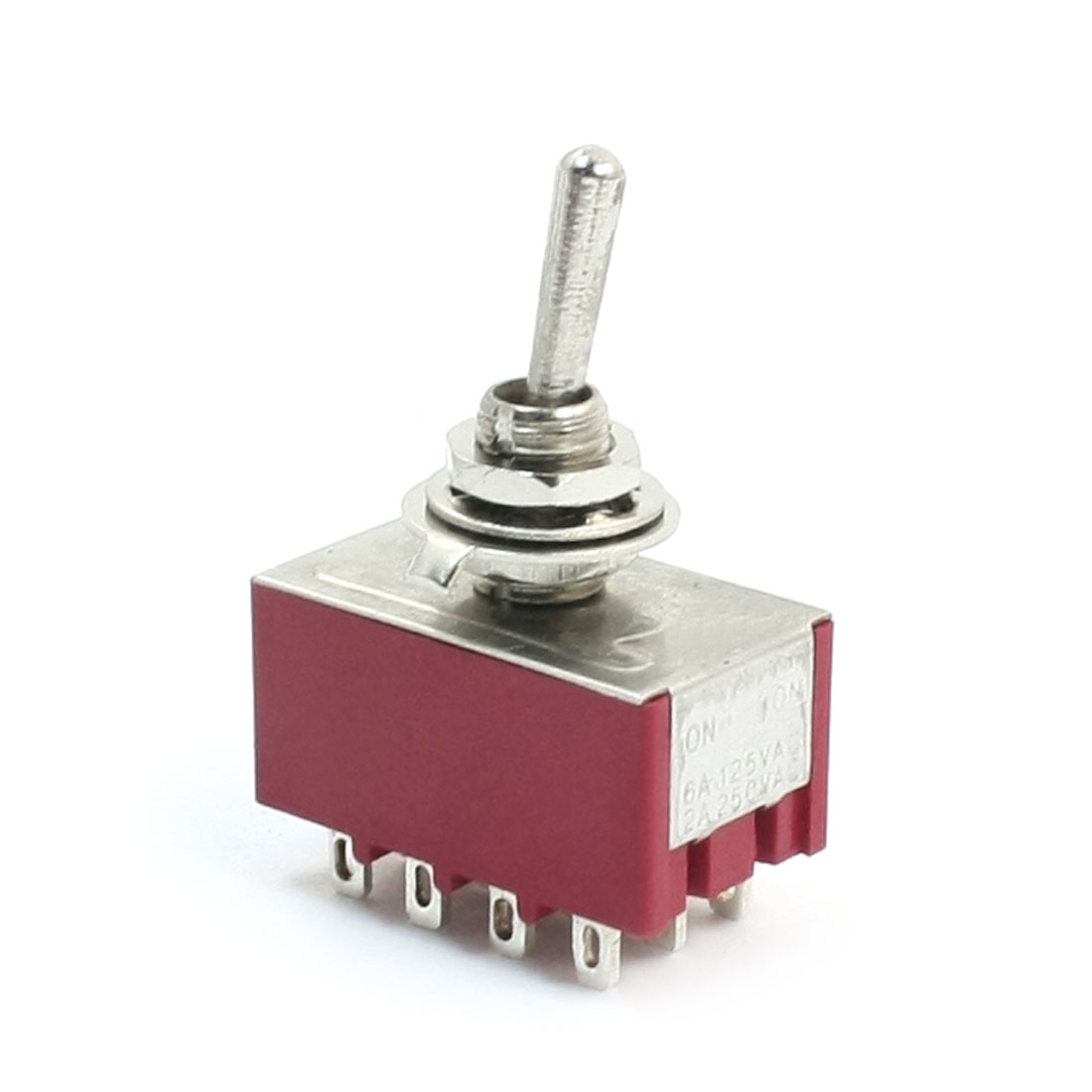 Ac 250V 2A 125V 6A 4P2t 2 Positions 12 Terminals Rocker Toggle Switch image