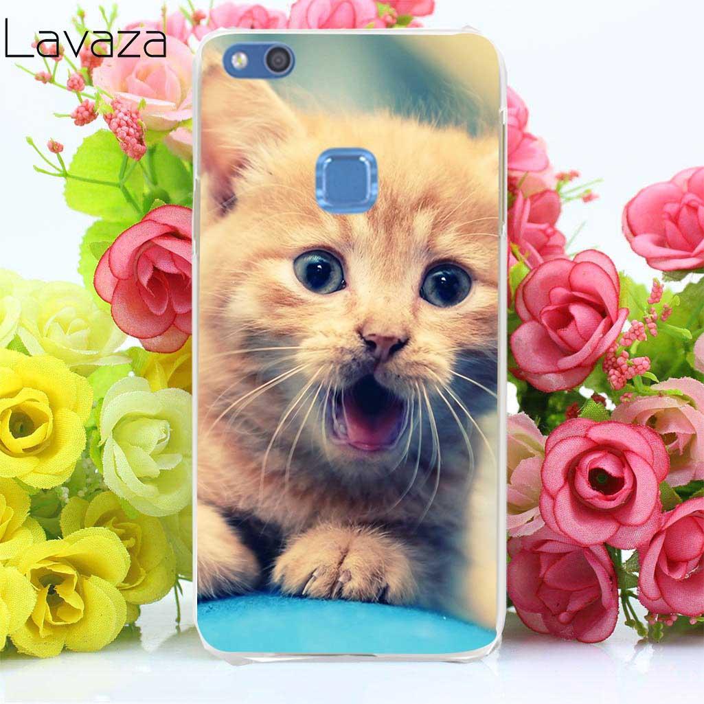 Lavaza 67aa Довольно милый котенок узор футляр для huawei P8 P9 P10 lite Мини плюс P20 lite Pro P smart 2015 2016 2017