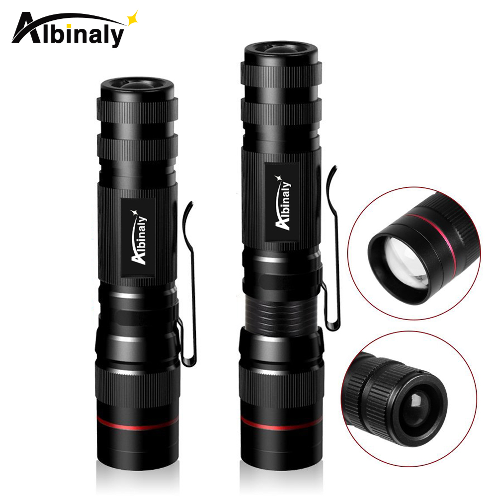 Permalink to Portable LED flashlight Q5 waterproof torch flashlight Zoomable 3 modes led torch waterproof camping light use AA battery