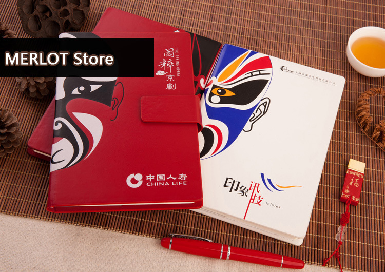 Promotion Ancient Ways Notepad Imitate Skin In National Notebook Peking Opera Chinese Style SGBJB6-2 style national каталог