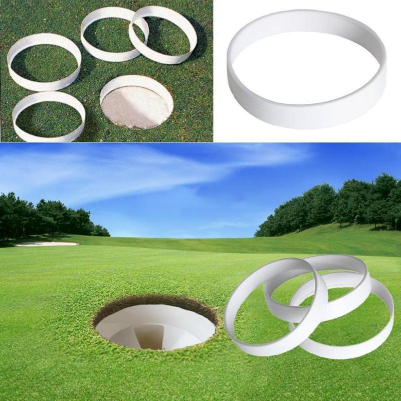 Plastic Golf Cup Ring  Golf Putting Hole Putting Cup Ring White Golf Field Sports Equipment Training Aid Accessory