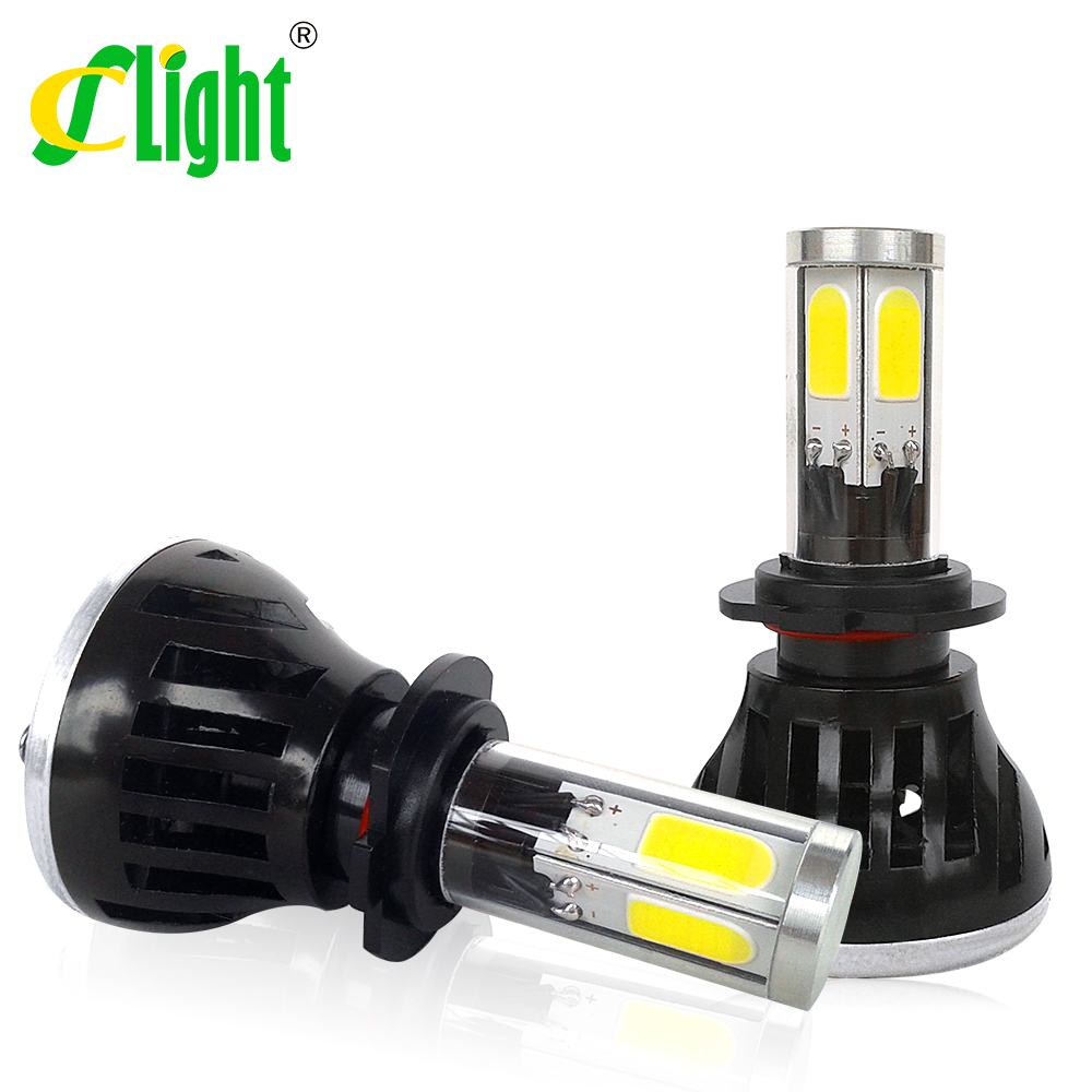 Led Car Auto Headlight H7 80W 8000LM 4 COB Led All In One White Bulb for