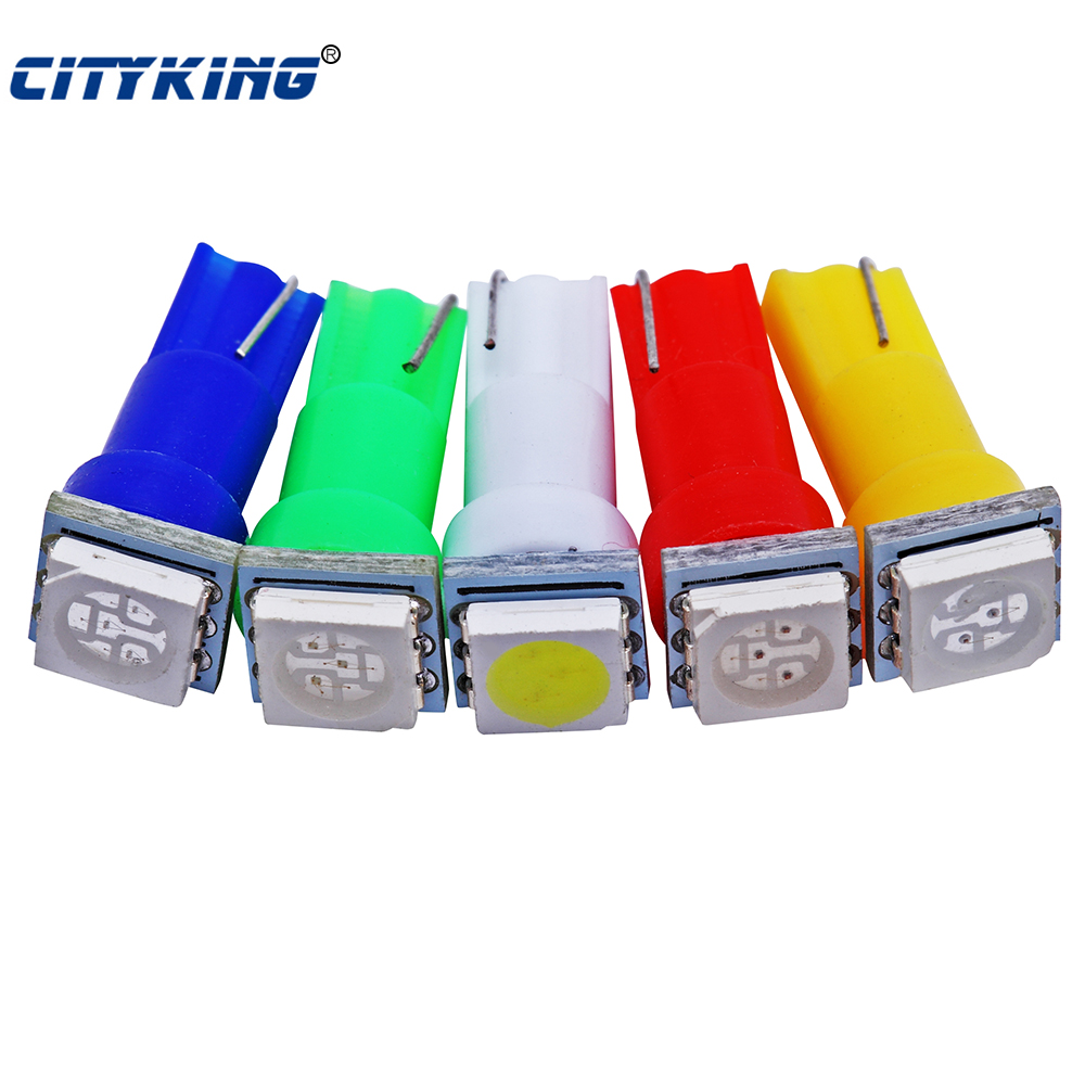 Free shipping 10pcs T5 led 5050 1SMD led t5 bulb wedge base for dashboards(Gauge bulbs) t5 led light White/Green/Blue/Red/Yellow 2pcs brand new high quality superb error free 5050 smd 360 degrees led backup reverse light bulbs t15 for jeep grand cherokee