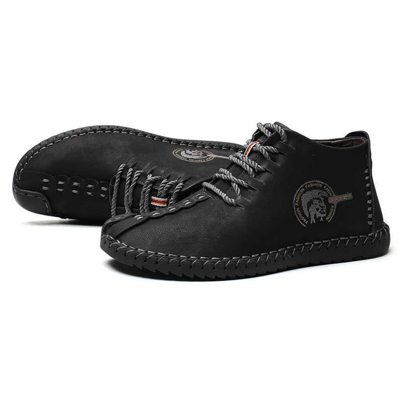 Mannen Casual Schoenen 2019 Nieuwe Mode Comfortabele Platte Mannen Oxford Schoenen Lace-up Solid Winter Mannen Causale Schoenen Schoeisel hot