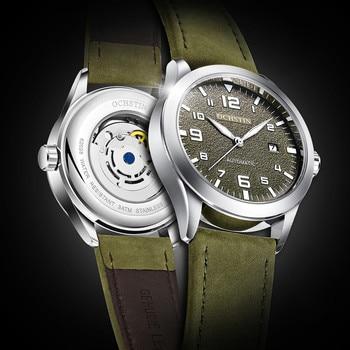 2019 OCHSTIN Luxury Brand Fashion Sport Mechanical Watches Leather Strap 30M Waterproof  Mens Automatic Horloges Mannen