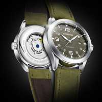 2019 OCHSTIN Luxury Brand Fashion Sport Mechanical Watches Leather Strap 30M Waterproof Men's Automatic Watches Horloges Mannen