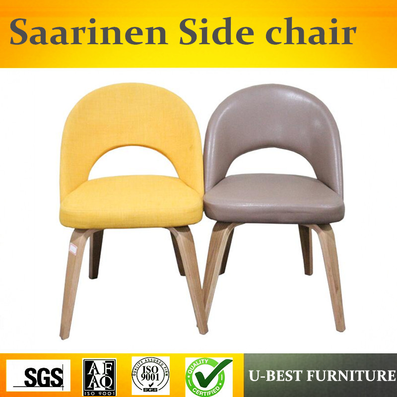 Livraison gratuite U-BEST chaises de salle à manger en bois élégant moderne, saarinen dinant la chaise, chaise latérale d'eero Saarinen dans la salle à manger