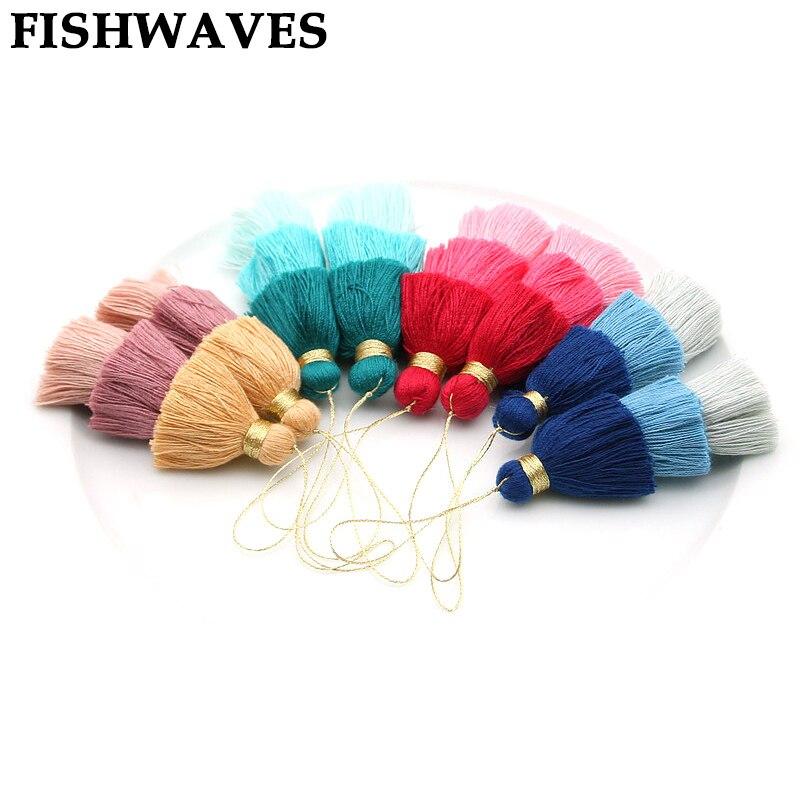 FISHWAVES 4pcs Mix Color Silk Tassels Fringe Diy Key Chain Earrings Multilayer Large Tassel New Fashion Accessories Jewelry 75mm