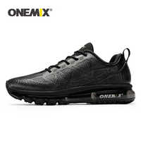 ONEMIX Men Running Shoes Men Sneakers Waterproof Leather Outdoor Running Shoe Shock Absorption Light Male Sneakers Size EU 39-47