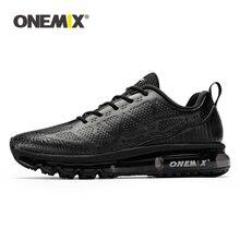 ONEMIX Men Winter Running Shoes Waterproof Leather Outdoor Keep Warm Shock Absor