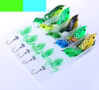 21pcs Assorted Bionic Frog Fishing Lures Hook Tackle Box Soft Rail Frog Crankbaits Swimbait Plastic Tackle Saltwater Freshwater