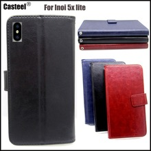 Casteel Classic Flight Series high quality PU skin leather case For INOI 5X Lite Case Cover Shield