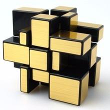 Qiyi 3x3x3 Волшебное Зеркало, куб профессиональный Cubo magico Cast Puzzle покрытием Скорость твист обучение и образование Игрушечные лошадки