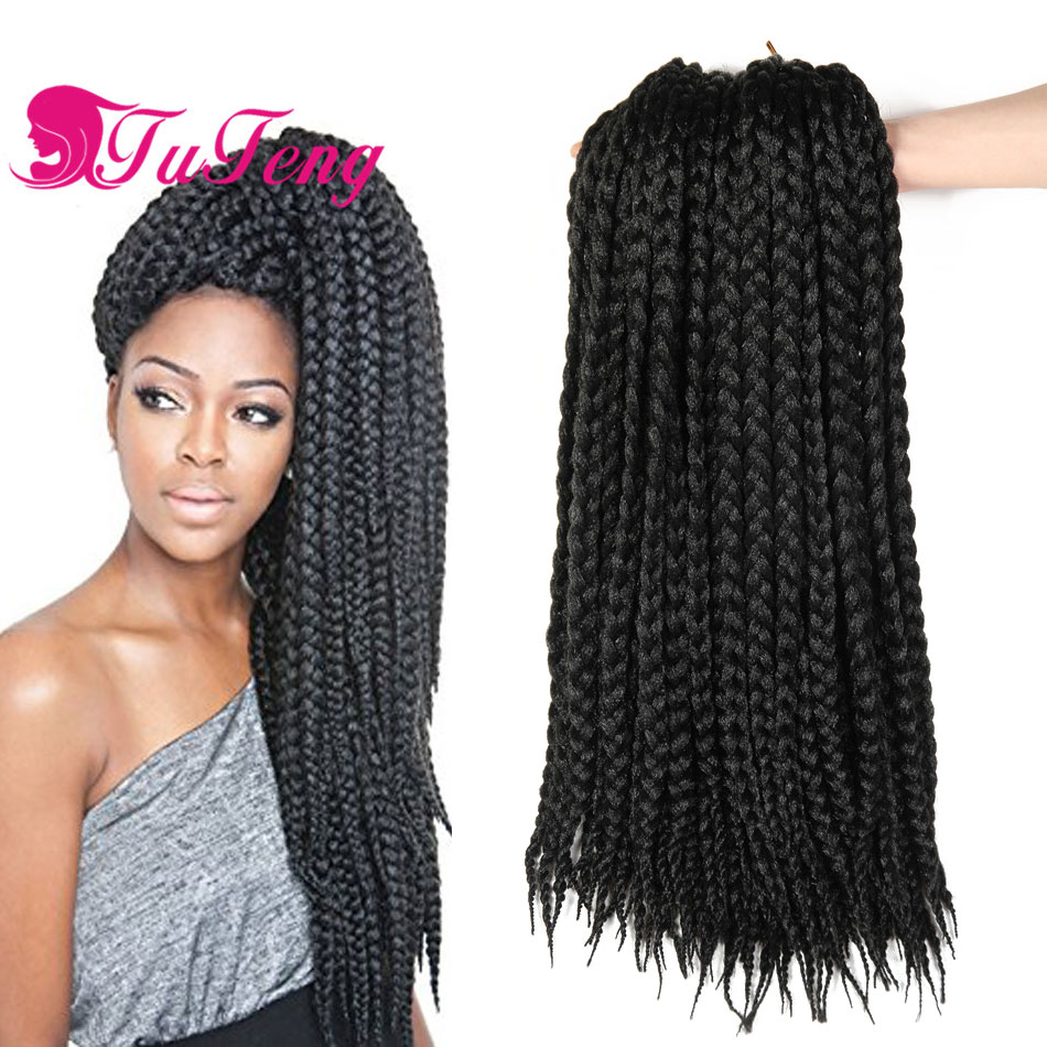 Crochet box braids hair crochet braids box braid extensions xpression braiding hair crochet - Crochet braids avec xpression ...