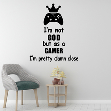 Drop Shipping I Am Game Wall Stickers Modern Interior Art Decoration For Boys Bedroom Decals Background Decal