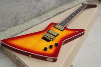 Free Shipping new arrival Goose Type sunburst Electric Guitar with Floyd Rose Tremolo 1027